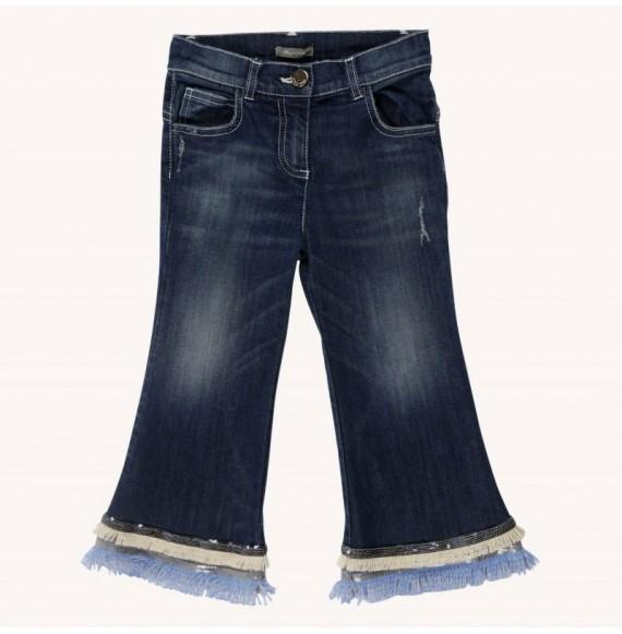 Jeans alla caviglia con frange
